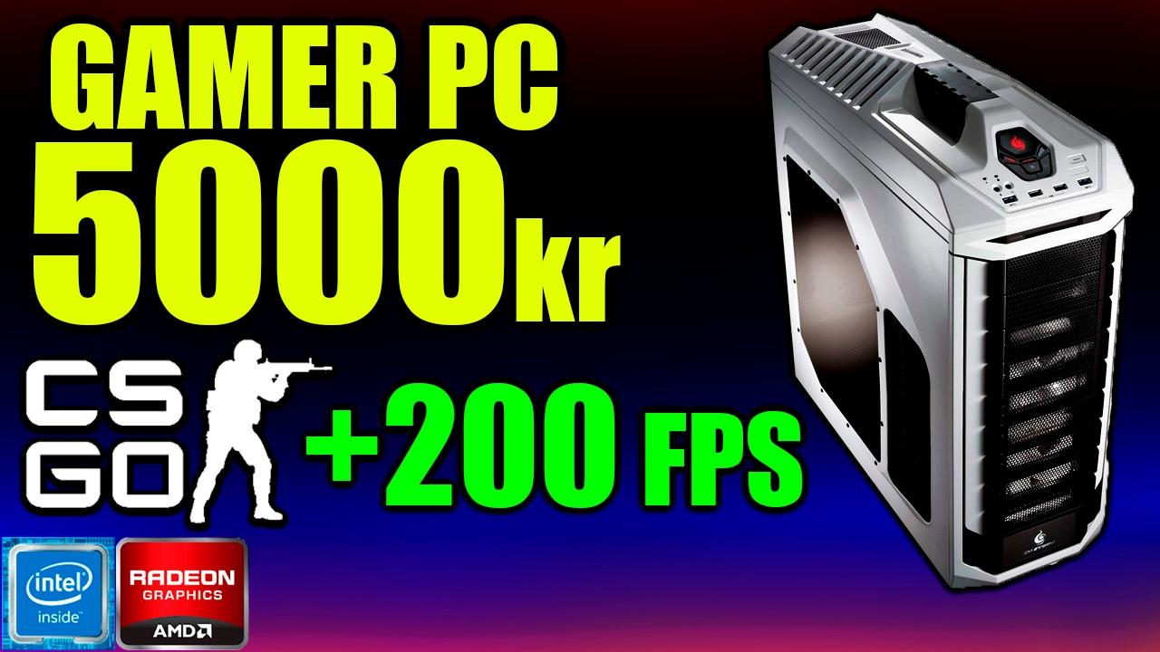 Byg En Gamer Pc Til 5000kr Csgo Competitive Ready 200 Fps I