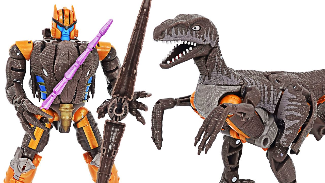 Transformers Kingdom Dinobot dinosaurs raptor transform! | DuDuPopTOY