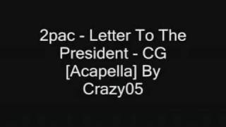 Tupac letter to the president