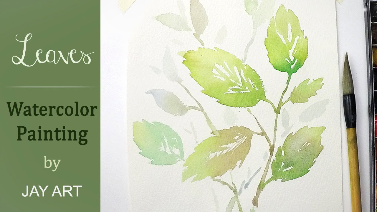 how to paint leaves in watercolors quick easy youtube