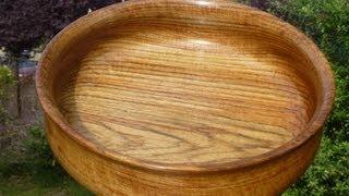 """Wood Turning With Naked Turner 12"""" Teak Bowl"""