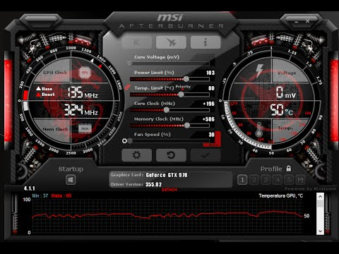Best settings OC GTX 970 Msi Afterburner
