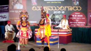 Yakshagana-Kolali -kota -krishna -Arjuna Sambashane