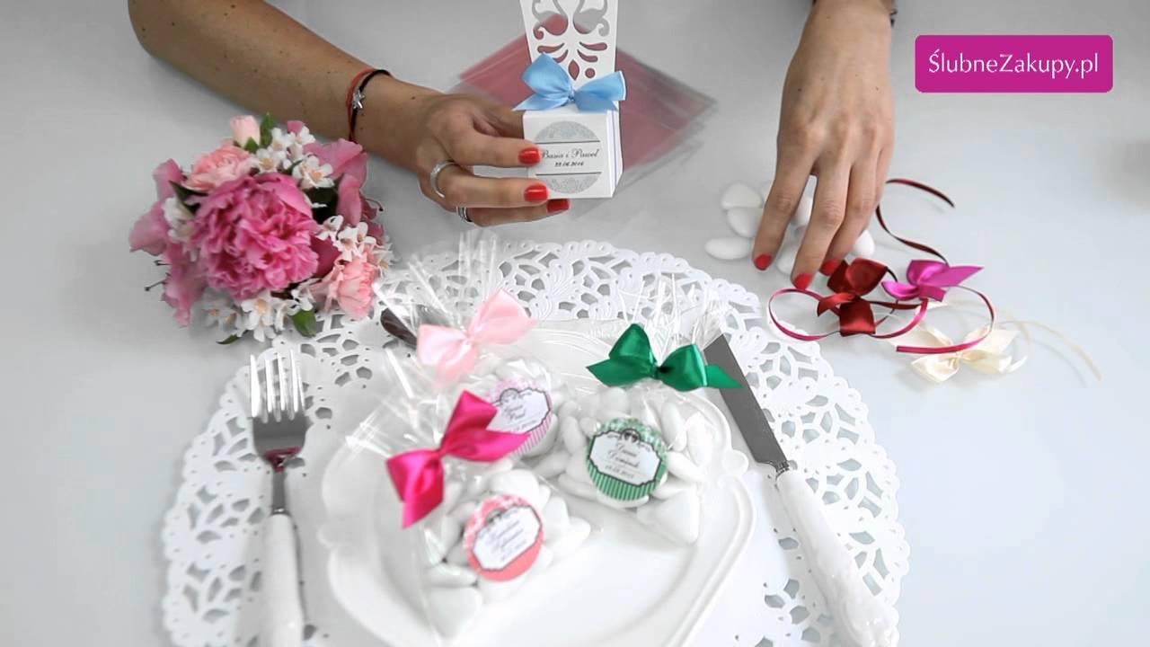 bd98dabba95254 Jak stworzyć samodzielnie podziękowania dla gości na wesele?  Slubnezakupy.pl podpowiadają - YouTube