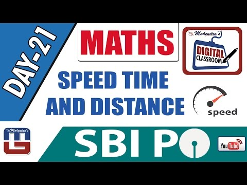 SPEED TIME AND DISTANCE | MATHS | DAY - 21 | DIGITAL CLASS | SBI PO 2017 |