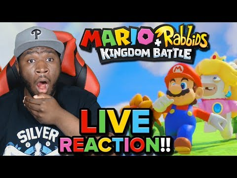 "Thumbnail: ""THE GANG'S ALL HERE!!"" [Mario + Rabbids Kingdom Battle] [LIVE REACTION]"