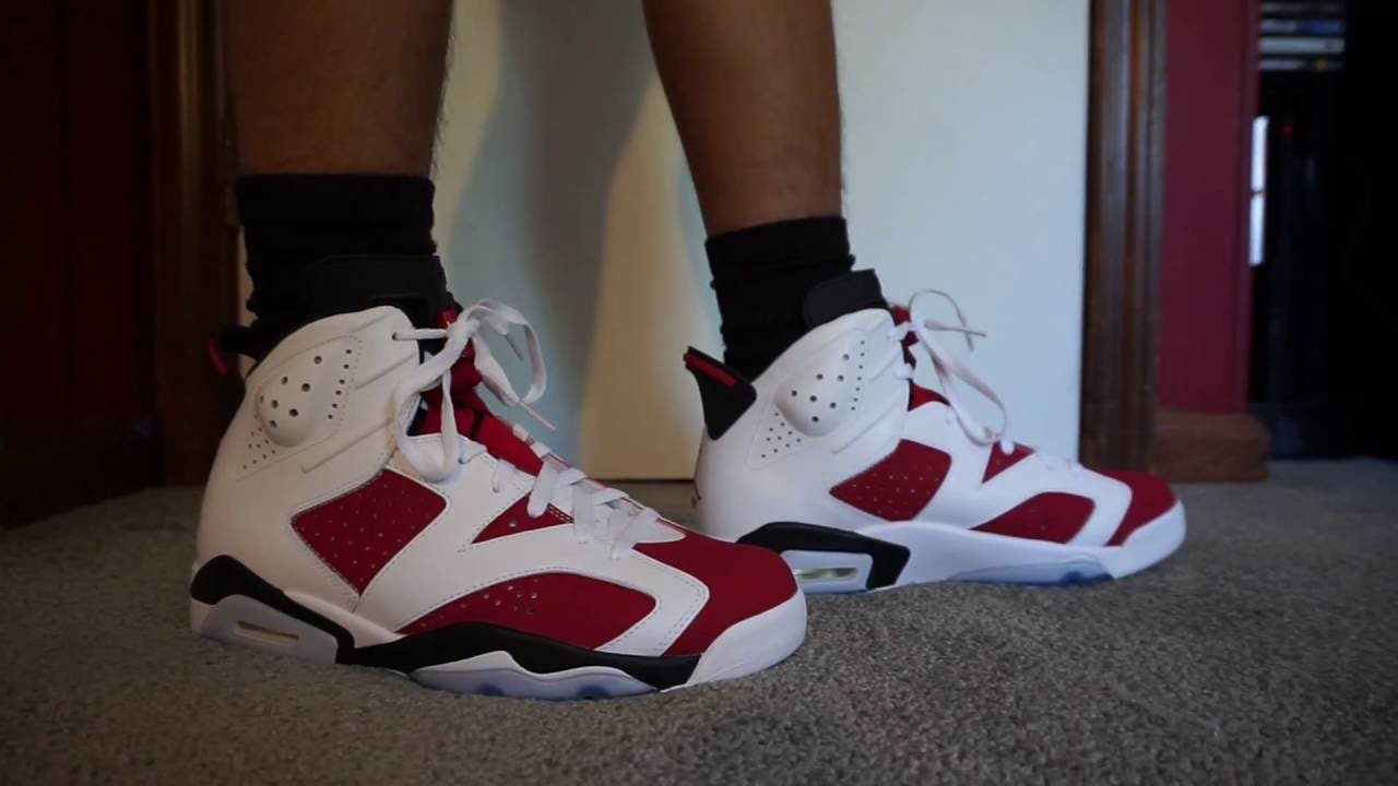 huge selection of exclusive shoes great deals Air Jordan 6 Retro Carmine On Feet