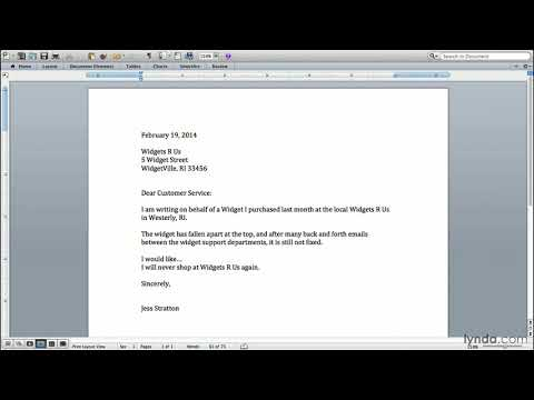 Productivity tutorial: Writing a claim letter | lynda.com