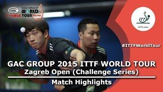 Zagreb Open 2015 Highlights: MORIZONO Masataka/OSHIMA Yuya vs CHO Eonrae/KIM Donghyun (FINAL)