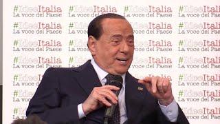 L'ex presidente del consiglio silvio berlusconi, intervistato dal direttore de il giornale alessandro sallusti alla convention #ideeitalia di milano, ha risp...