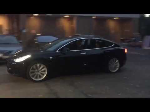 Tesla model 3 Release candidate Video HD + Slo Motion