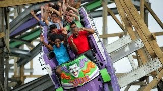 the joker b roll pov hd six flags discovery kingdom rmc roller coaster hybrid new for 2016