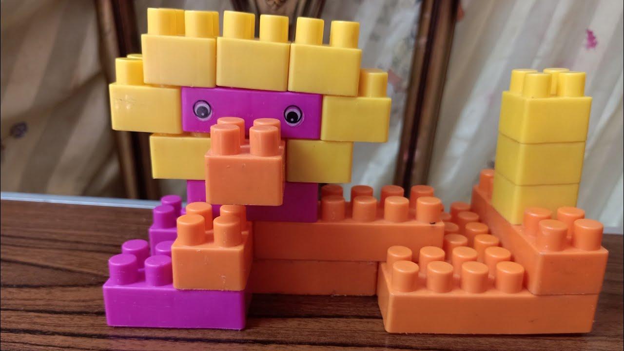 عمل اسد بالمكعبات ،العاب اطفال,play with blocks