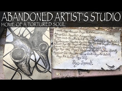 Abandoned Ohio | Exploring an Artist's Studio | Creepy notes of a Tortured Soul