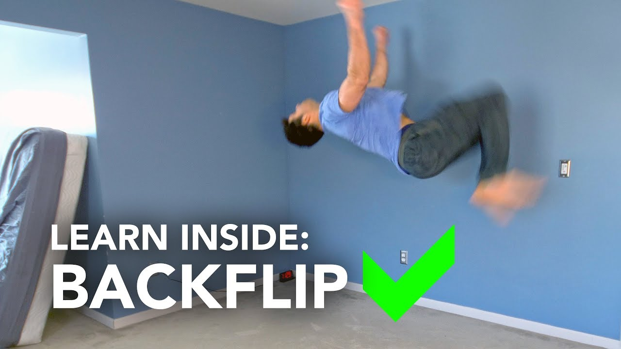 how to learn a backflip by yourself