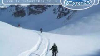 Heli skiing in the Arlberg, Austria