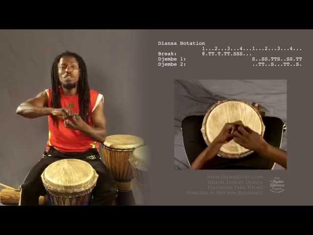 Djembe LESSON- DIANSA ; featuring Fara Tolno.