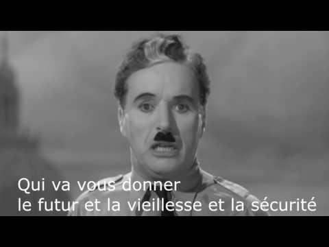 Charlie Chaplin's The Dictator - Final Speech VOSTFR (music Hans Zimmer - Time) 1940