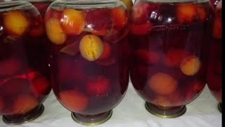 Компот из свежих фруктов, Turli mevalardan kompot tayyorlash