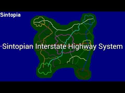 Sintopian Interstate Highway System - U.S. State of Sintopia - Blanding Cassatt