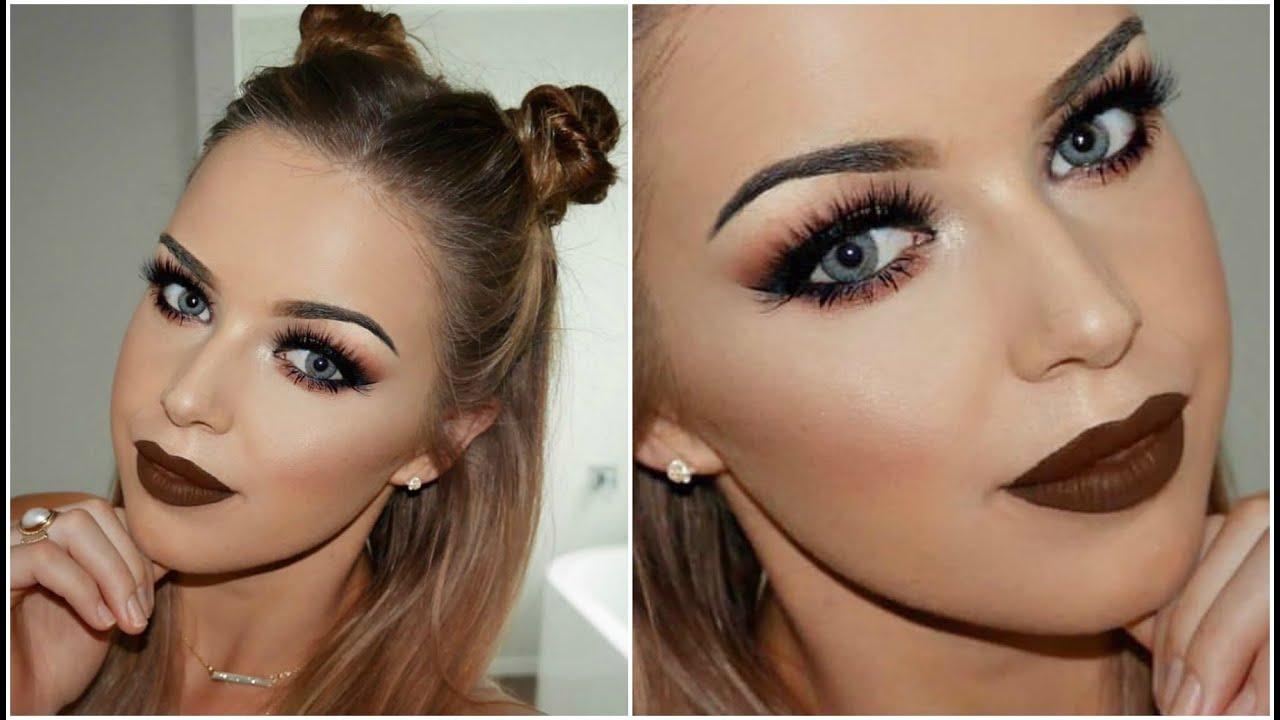 Dramatic warm brown tones || makeup tutorial youtube.
