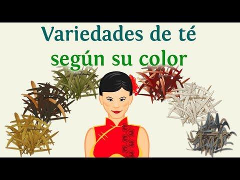 Variedades de té según su color