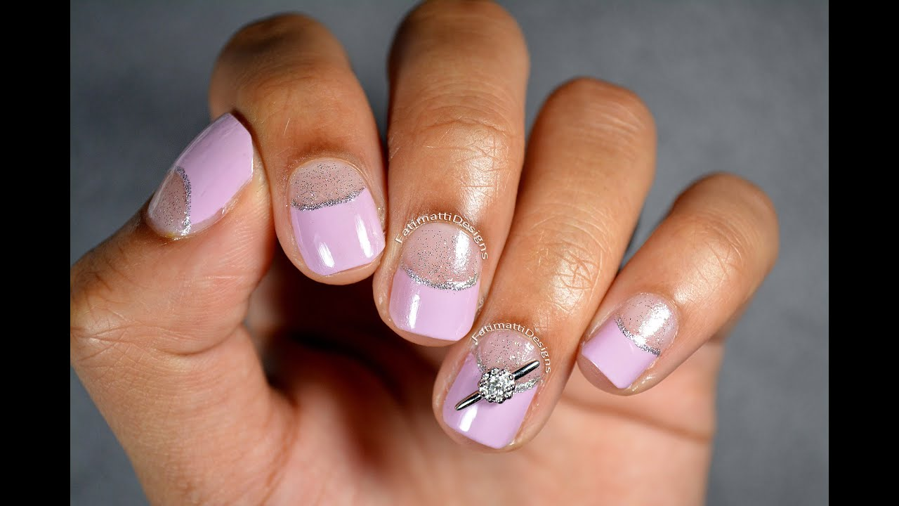 DIY: Lilac and Silver Glitter Nail Art with James Allen Mini ...