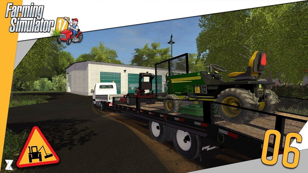 farming simulator 17 entretien communal 6 tonte et d broussaillage youtube. Black Bedroom Furniture Sets. Home Design Ideas