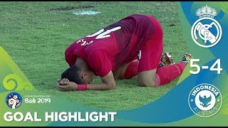 Gol Highlights: Real Madrid U20 (5) Vs (4) Indonesia All Stars U20 | U20 International Cup 2019