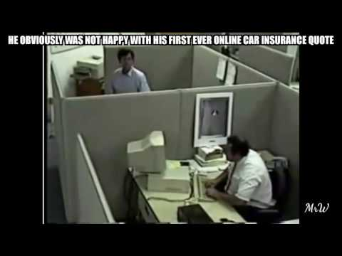 Guy Smashes Computer In Anger Meme - Car Insurance Quote