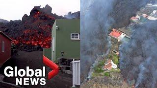La Palma Volcano Lava Continues Destructive Flow As Volcanic Ash Covers Villages