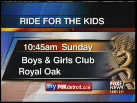 Ride For The Kids on Fox 2 Detroit