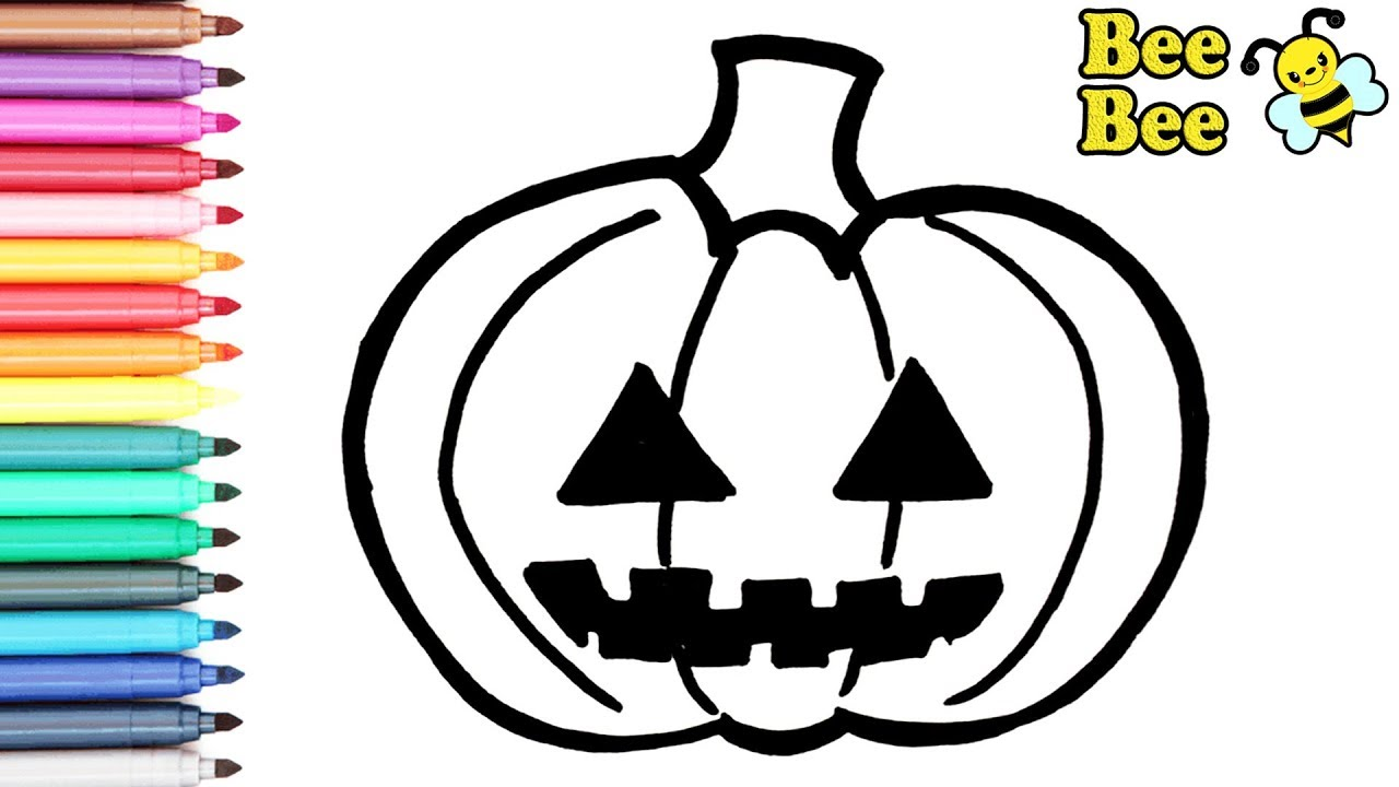 Раскраска для детей - ТЫКВА. Рисуем ТЫКВУ на Хэллоуин ...