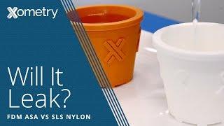 sls vs fdm 3d printing watertightness test