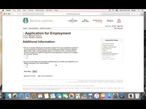 How to get a job at Starbucks fast! Job Application Walkthrough