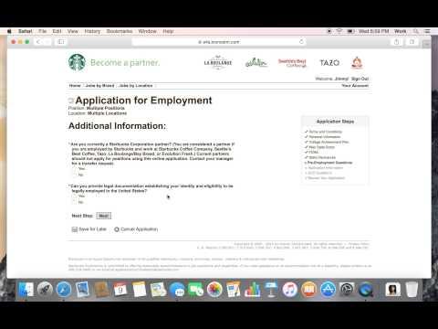 How To Get A Job At Starbucks Fast! Job Application Walkthrough