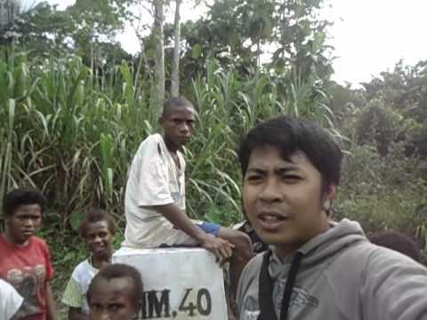 Tugu Perbatasan Indonesia dan Papua New Guinea | Distrik Waris Kabupaten Keerom