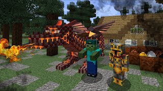 Minecraft MC NAVEED AND MARK FRIENDLY ZOMBIE TAME DRAGONS BREED DRAGONS AND MAKE BABY MOBS