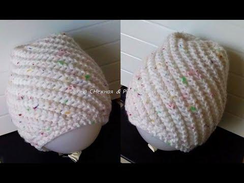 Вязаные оригинальные шапки спицами