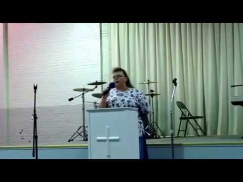 "Sister Pat Neal singing ""He Can"" at The Believer"