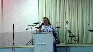 """Sister Pat Neal singing """"He Can"""" at The Believer"""