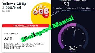 Cara terbaru daftar paket yellow 6 GB/Hari cuma Rp.4000 full 24 Jam speed mantul
