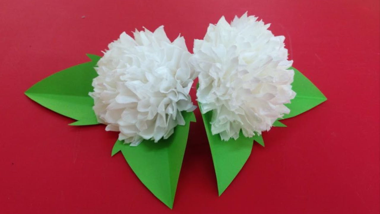 How to make tissue paper flowers making tissue paper flowers how to make tissue paper flowers making tissue paper flowers paper flower tutorial youtube mightylinksfo