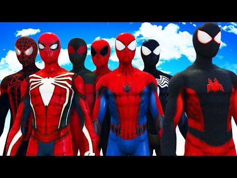 ALL SPIDERMAN SUITS - AMAZING SPIDER-MAN, SYMBIOTE SPIDERMAN, SUPERIOR SPIDERMAN, ULTIMATE SPIDERMAN