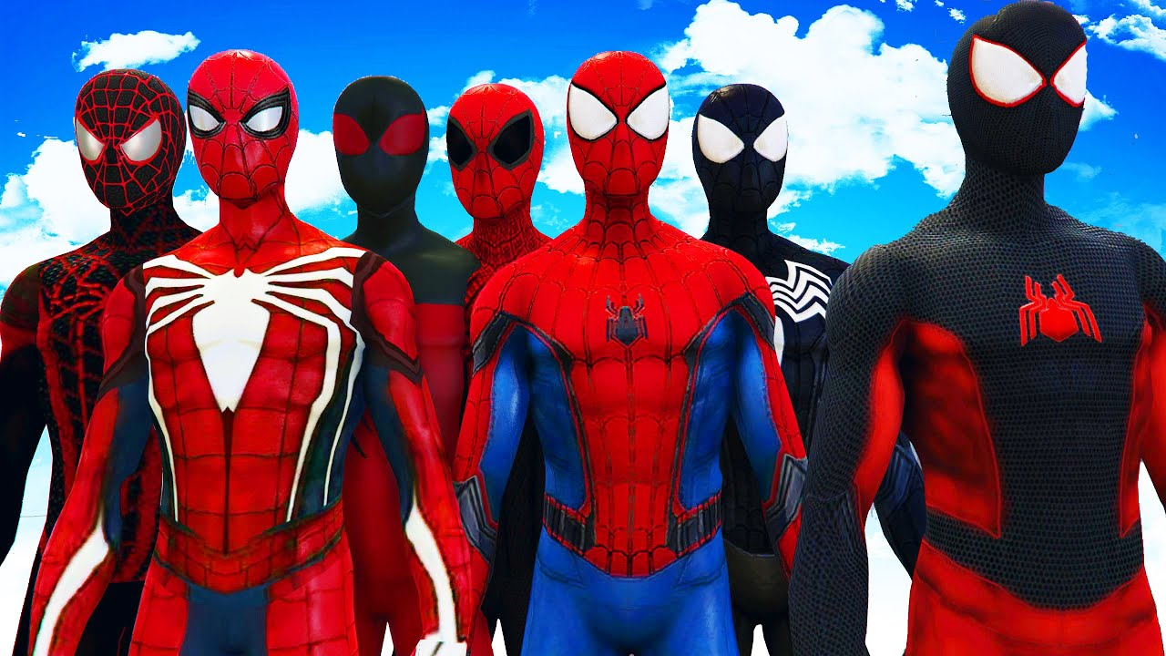 ALL SPIDERMAN SUITS - AMAZING SPIDER-MAN SYMBIOTE SPIDERMAN SUPERIOR SPIDERMAN ULTIMATE SPIDERMAN & ALL SPIDERMAN SUITS - AMAZING SPIDER-MAN SYMBIOTE SPIDERMAN ...