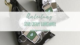 Anleitung: Verpackung Sour Cream Container mit Stampin' Up Produkten