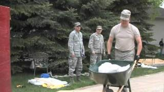 North Dakota Air Guard Assists Bismarck in Flood Fighting Efforts