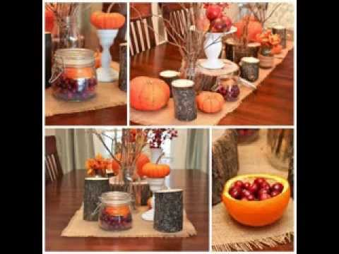 Diy thanksgiving table decorating ideas youtube Thanksgiving table decorations homemade