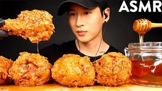 ASMR HONEY GLAZED FRIED CHICKEN MUKBANG (No Talking) COOKING &amp EATING SOUNDS  Zach Choi ASMR