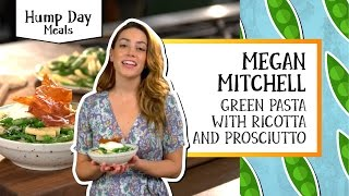 Green Pasta with Ricotta & Prosciutto | Hump Day Meals - Megan Mitchell